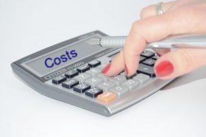 Hand Using Calculator