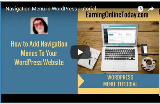 Navigation Menus WordPress Video Tutorial